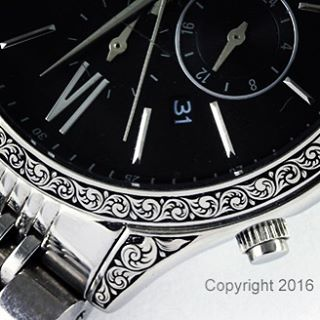 Closeup of a watch I recently hand engraved Thank youhellip
