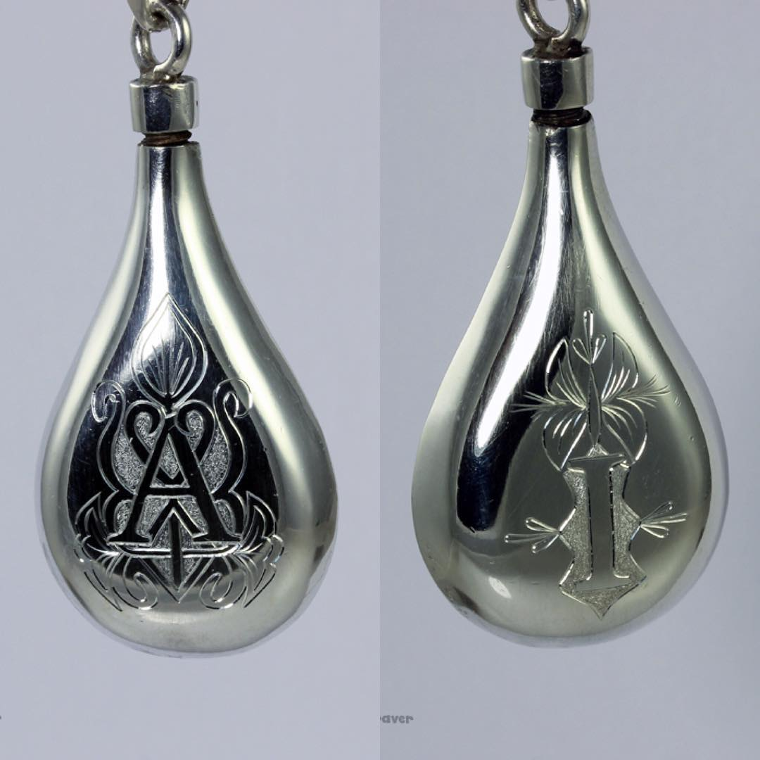 A thoughtful woman asked me to engrave a silver pendanthellip