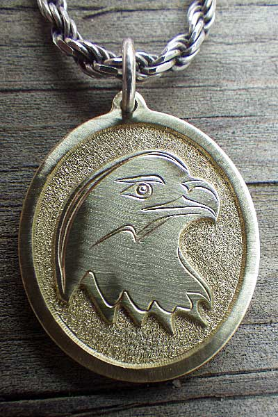 Warbird Pendant / Deep Relief Engraving