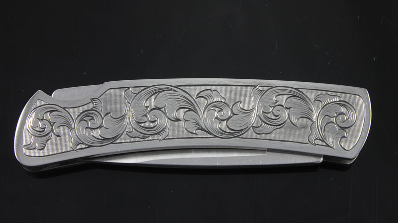 Buck Gent Folding Knife Hand Engraved David Sheehan