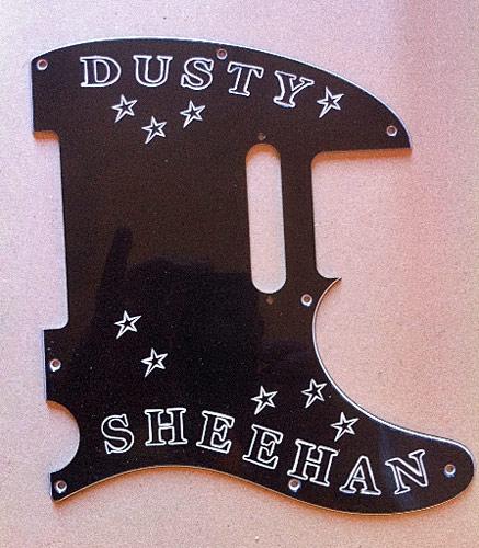 Hand Engraved Fender Guitar Pickguard