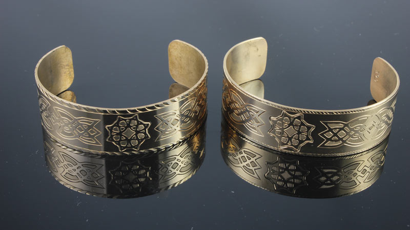 Celtic Bracelet / Hand Engraved