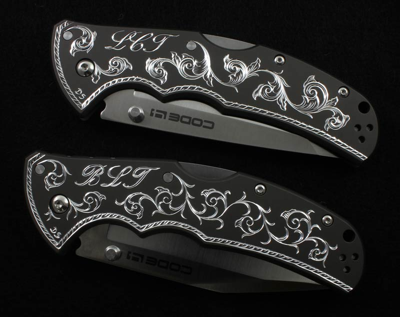 Hand Engraved Cold Steel Knives