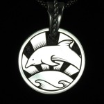 Dolphins at Sunset Pendant