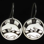 Dolphins at Sunset Earrings