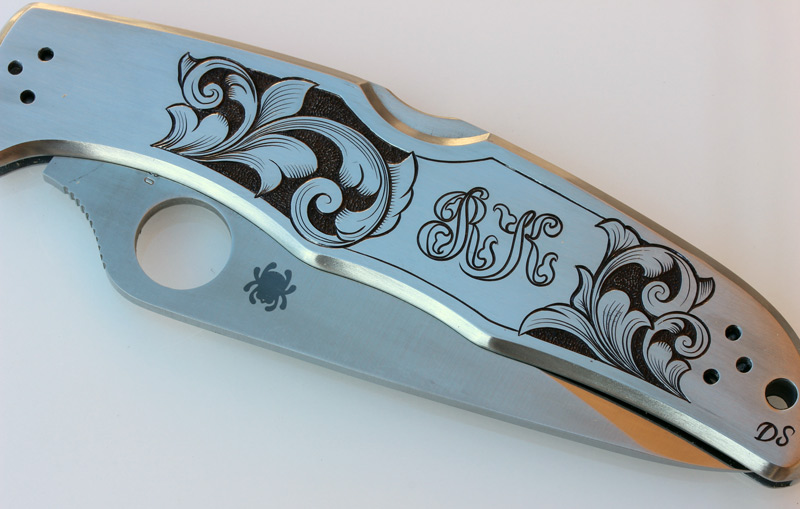 Engraved Spyderco