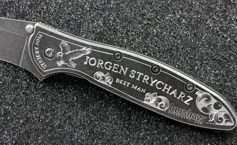 Hand Engraved Kershaw