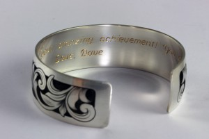 Hand Engraved Graduation Bracelet