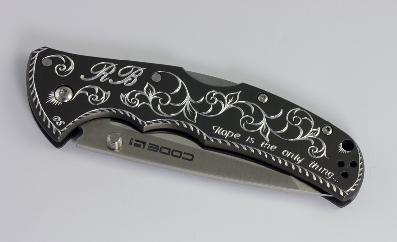 Hand Engraved Personalized Knife
