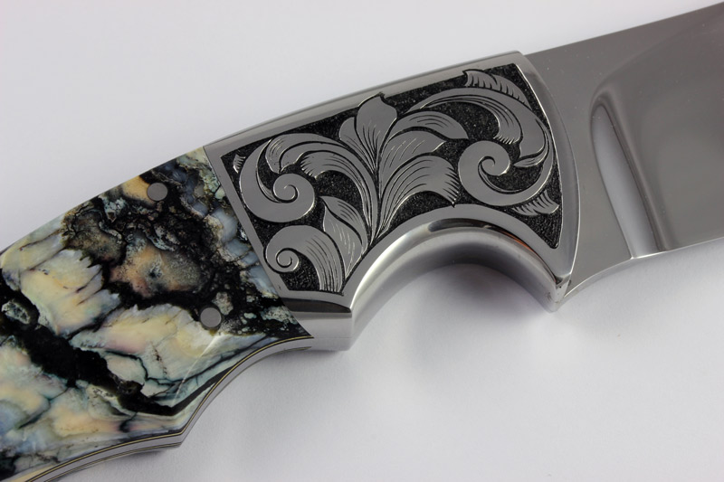 Hand Engraved Mammoth Tooth Knife
