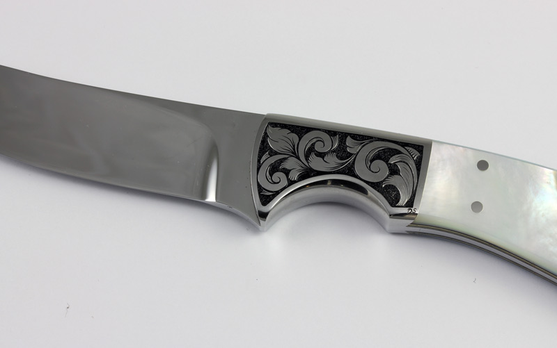 Pearl Handle Fixed Blade Knife