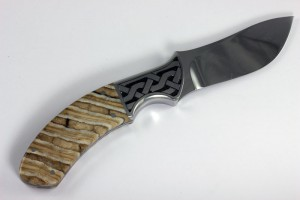 Hand Engraved Fixed Blade Hunting Knife