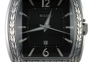 Hand Engraved Bulova Watch