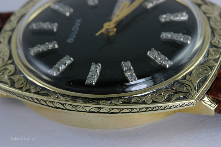 Hand Engraved Vintage Watch