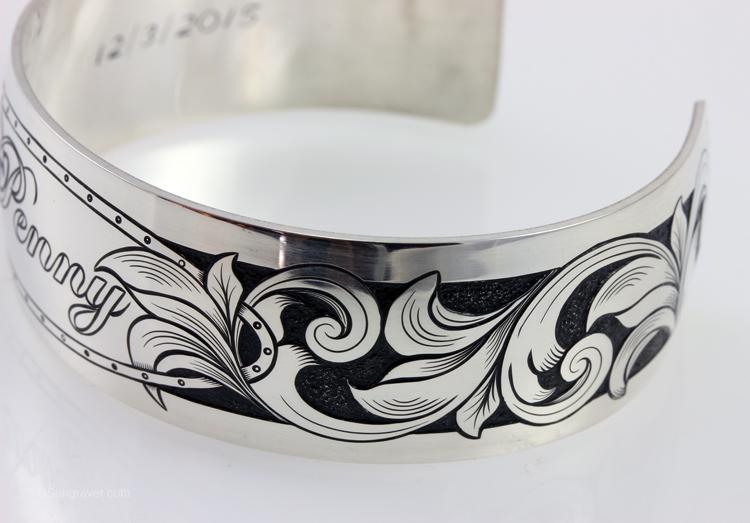 Hand Engraved Silver Bracelet