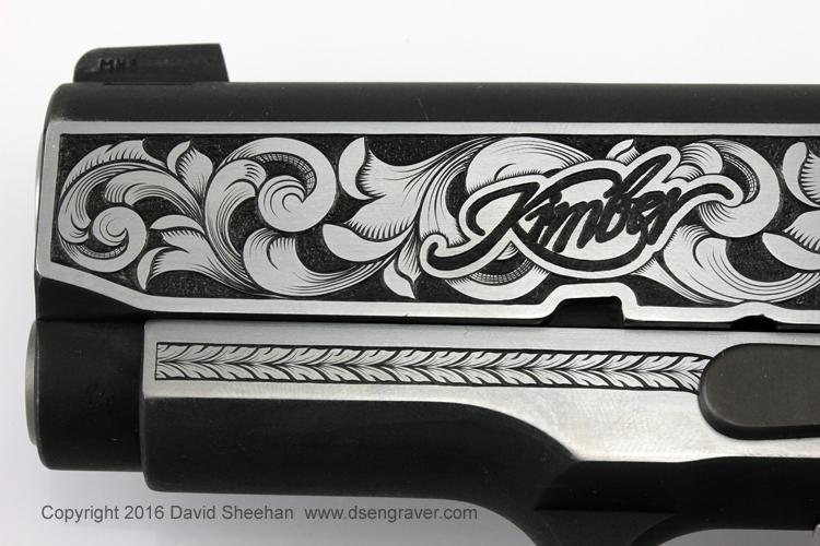 Hand Engraved Kimber 1911