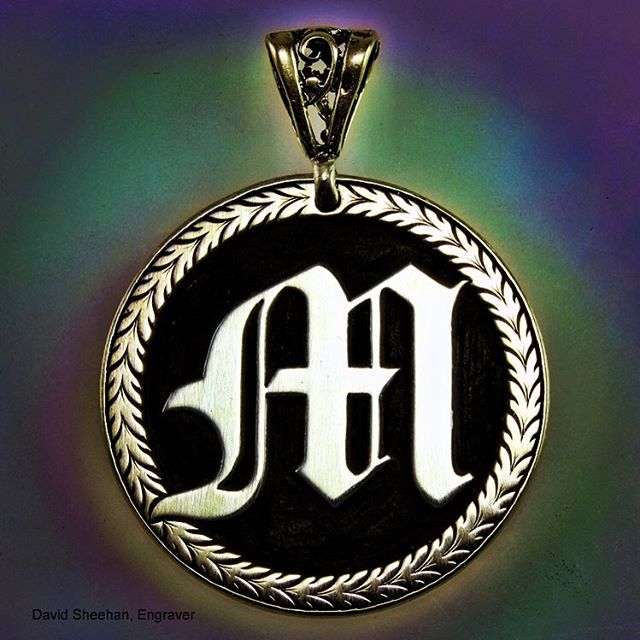 Hand engraved sterling silver pendant Thanks for looking engravedjewelry sterlingsilverhellip