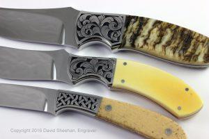 Engraved Custom Knives