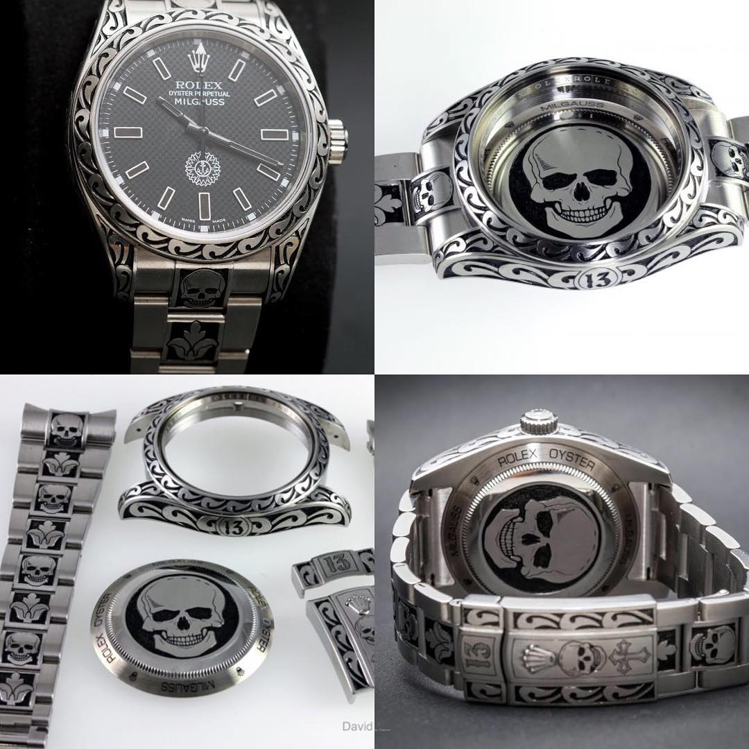 Just finished engraving another Gothic theme Rolex with a numberhellip