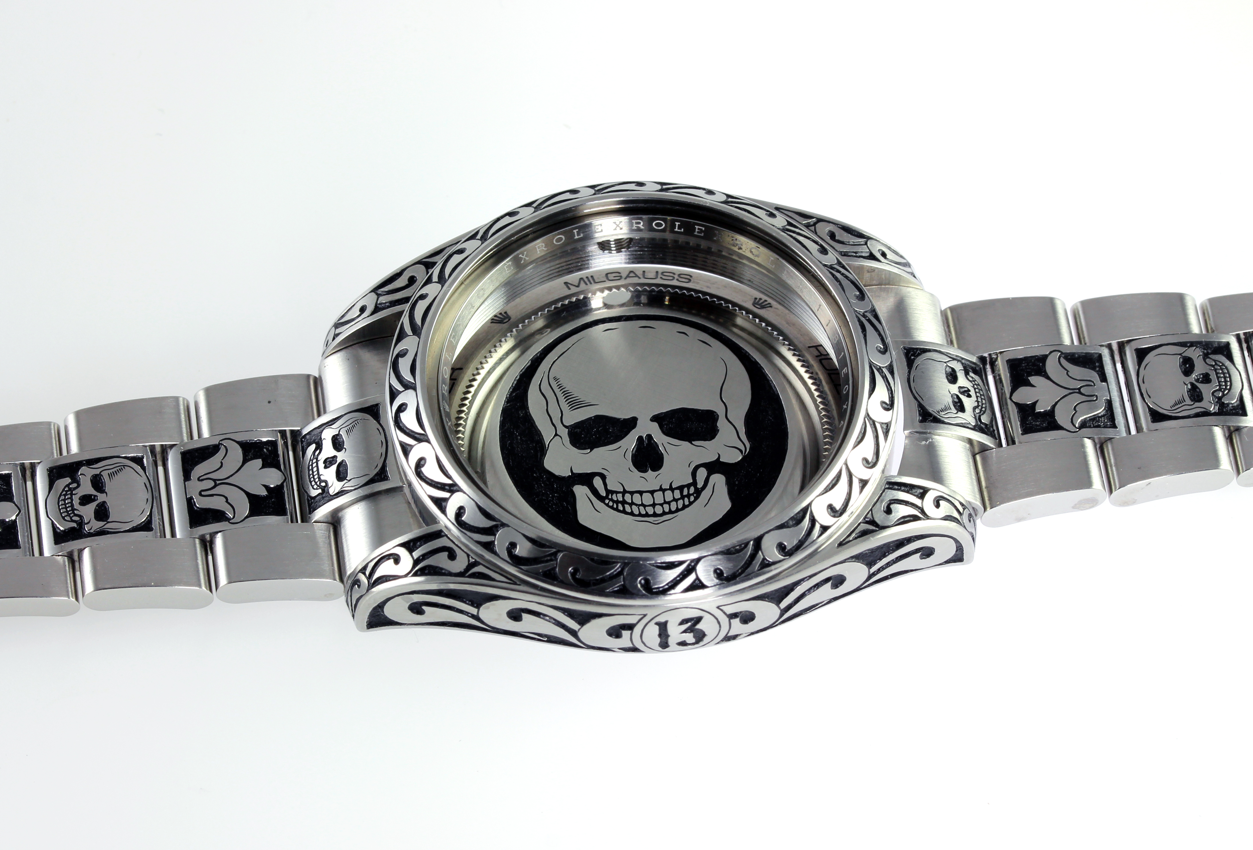 engraved Rolex