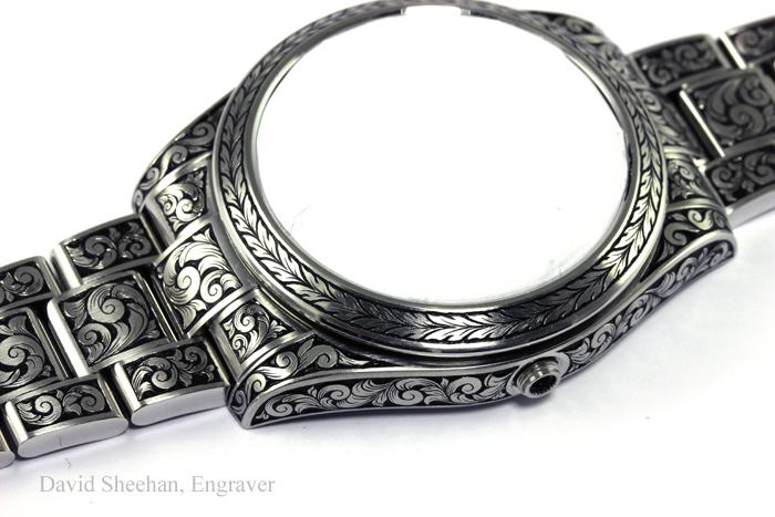 Rolex Hand Engraved