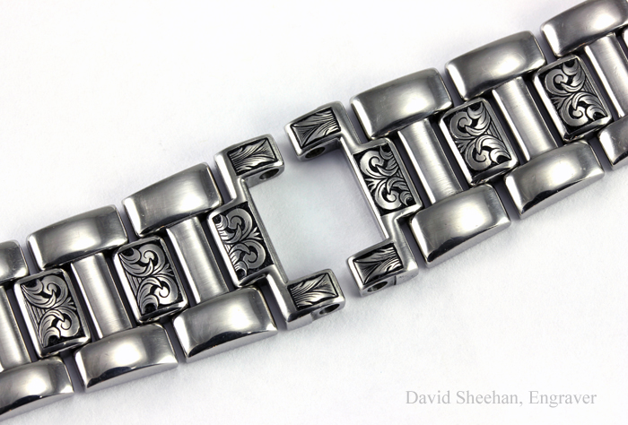 Hand Engraved Cartier Watchband