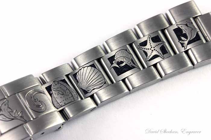 Hand Engraved Watch Band