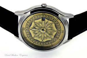 engraved watch dial