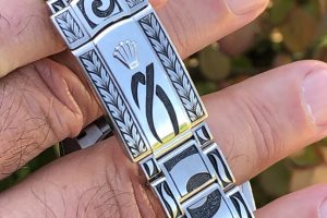 Watch Engraving Tribal design