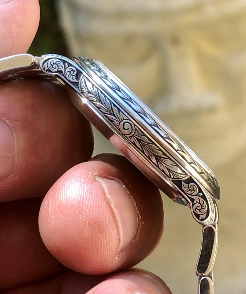 hand engraved Omega