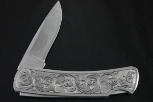 Hand Engraved Buck Gent