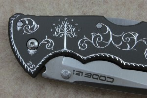 Hand Engraved Lord of the Rings Code 4