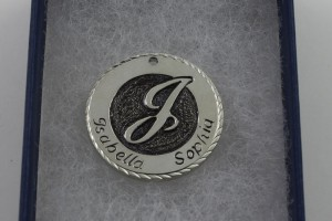 Sterling Silver Hand Engraved Pendant