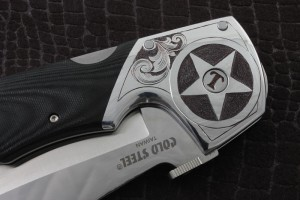 Hand Engraved Knife Texas Espada