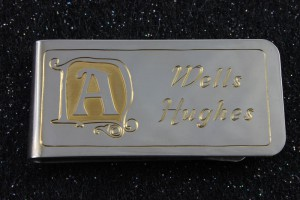 Hand Engraved Money Clip