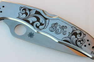 Engraved Spyderco