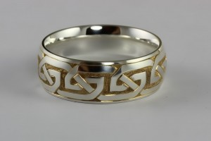 Hand Engraved Celtic Ring
