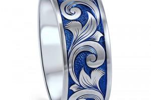 Hand Engraved Titanium Ring