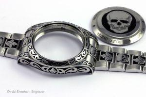 hand engraved rolex watch